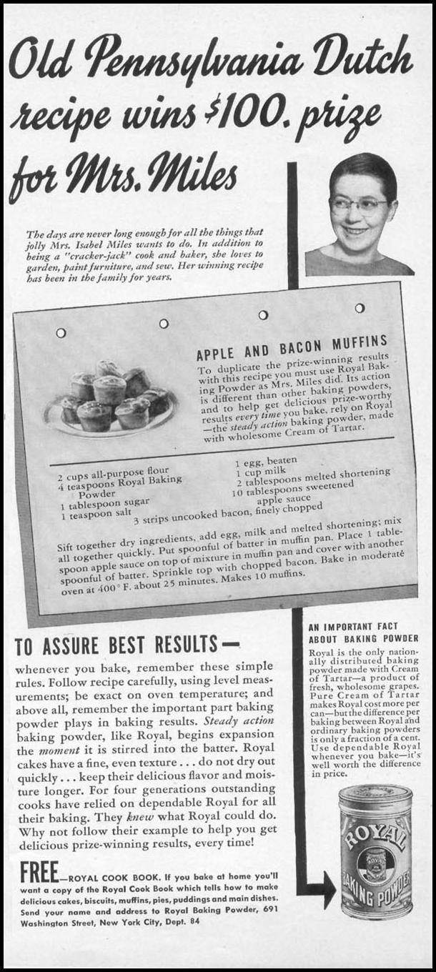 ROYAL BAKING POWDER WOMAN'S DAY 04/01/1941 p. 57