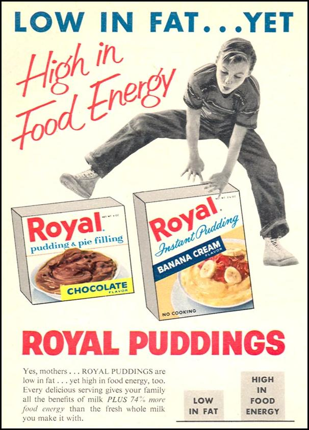 ROYAL PUDDING WOMAN'S DAY 06/01/1958 p. 18
