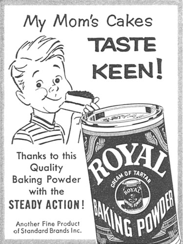 ROYAL BAKING POWDER WOMAN'S DAY 10/01/1956 p. 134