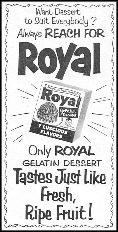 ROYAL GELATIN WOMAN'S DAY 12/01/1954 p. 138