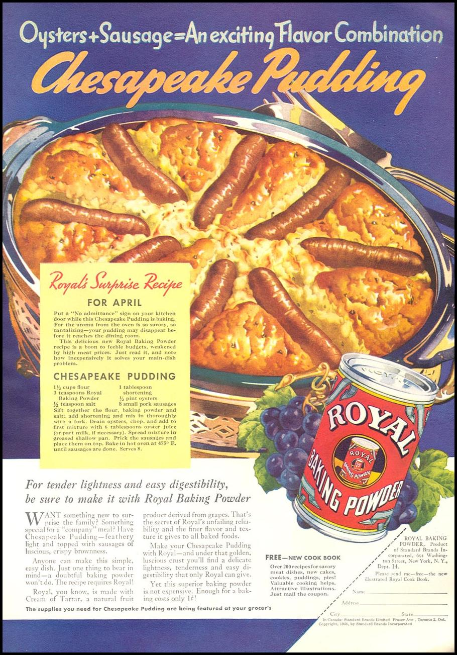 ROYAL BAKING POWDER GOOD HOUSEKEEPING 04/01/1936 p. 117