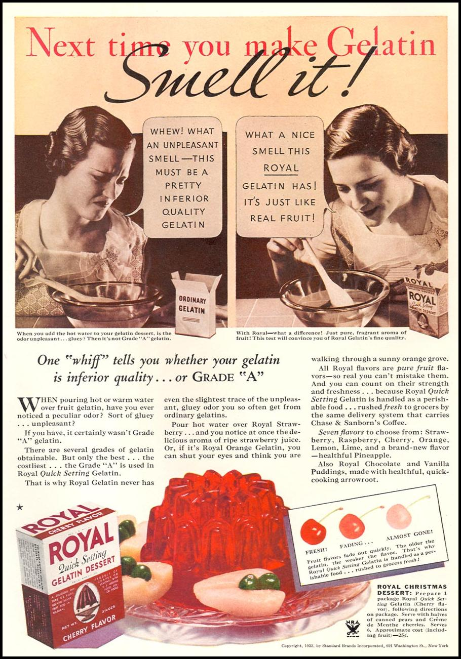 ROYAL GELATIN GOOD HOUSEKEEPING 12/01/1933 p. 139