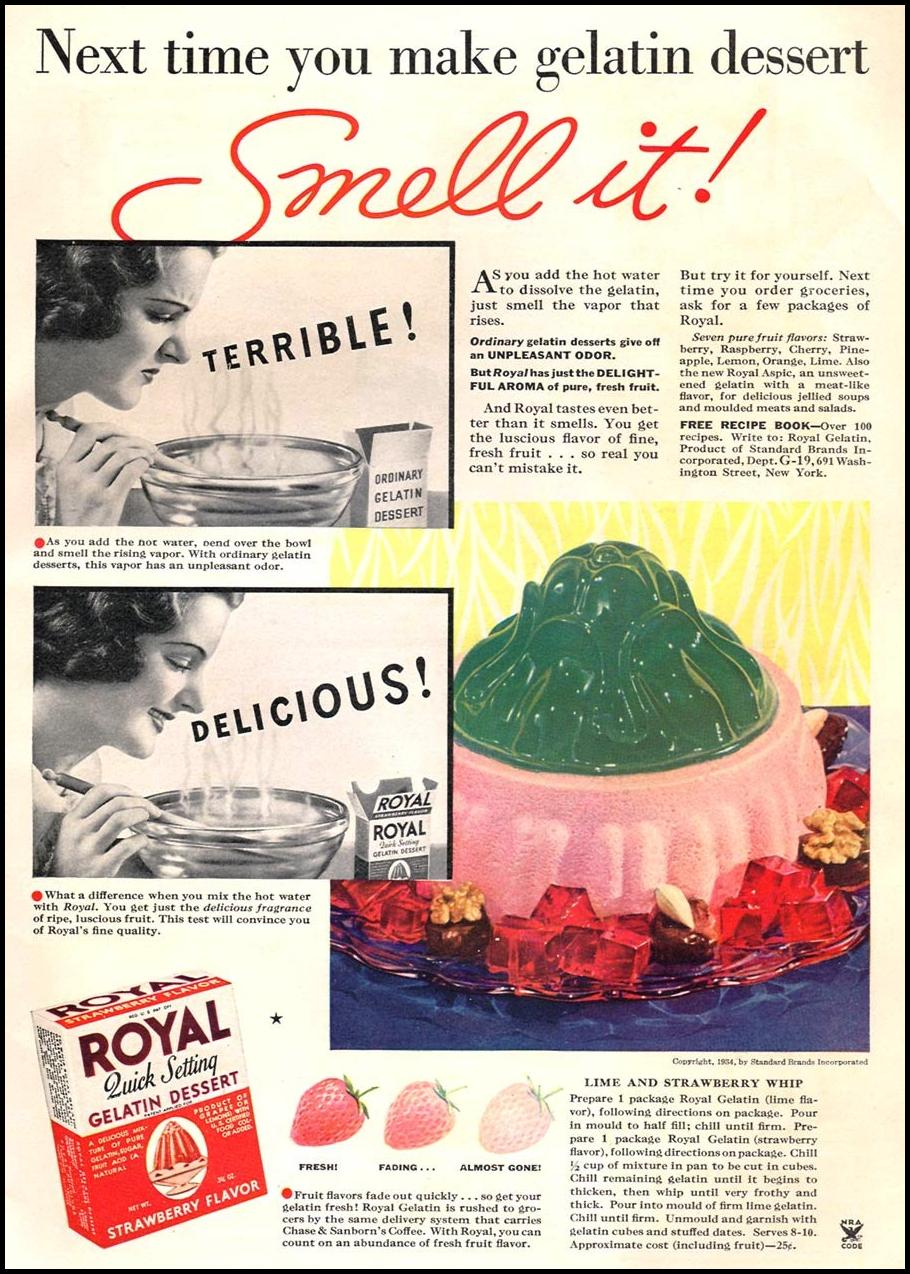 ROYAL GELATIN GOOD HOUSEKEEPING 12/01/1934