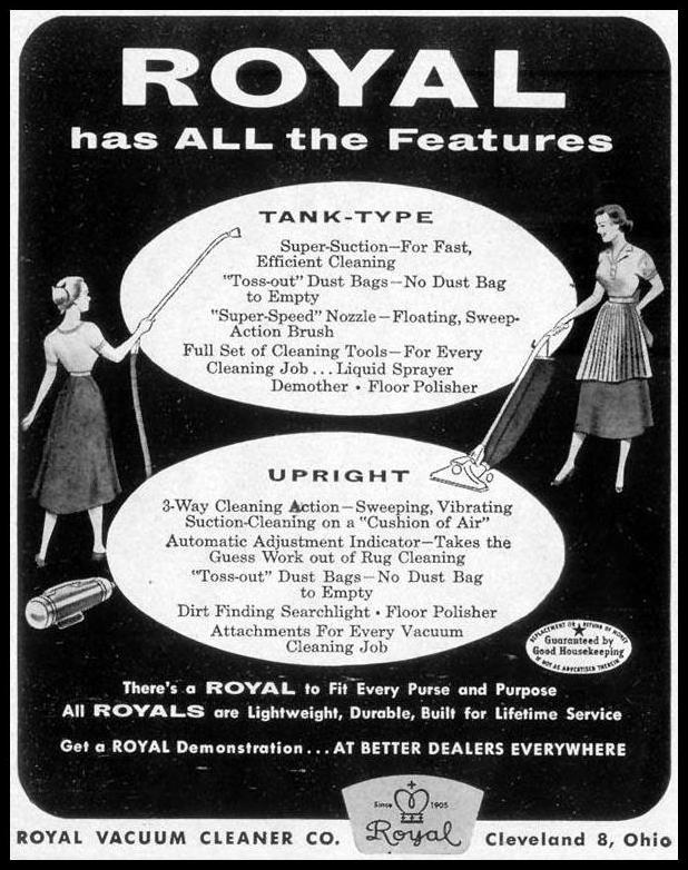 ROYAL VACUUM CLEANERS LIFE 09/07/1953 p. 114