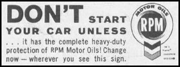 RPM MOTOR OILS SATURDAY EVENING POST 06/11/1960 p. 112