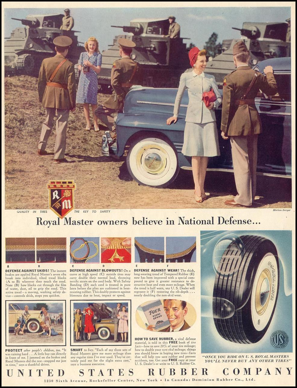 ROYAL MASTER TIRES LIFE 06/23/1941
