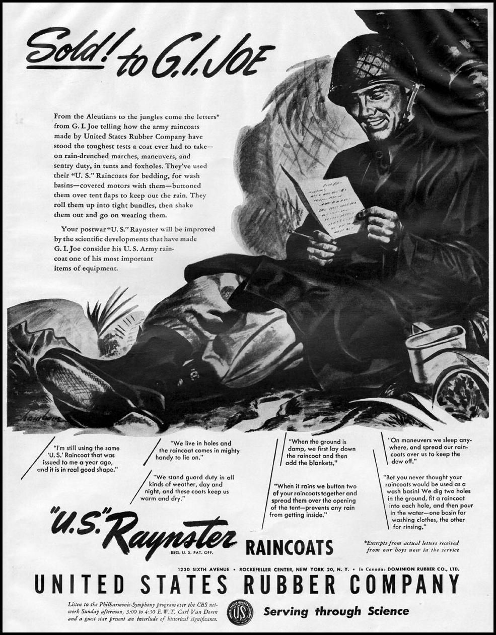 RAYNSTER RAINCOATS LIFE 10/23/1944 p. 85