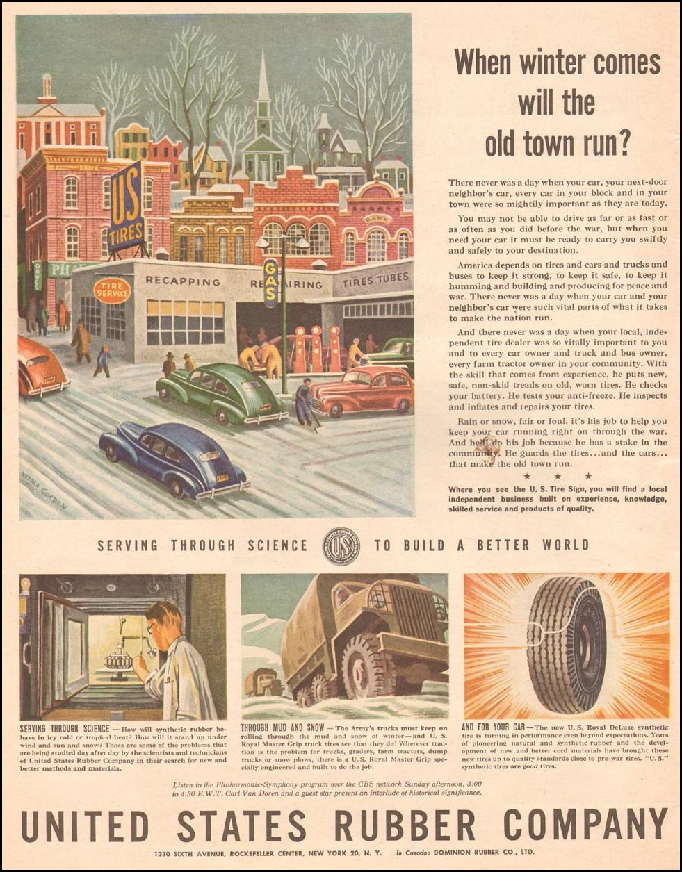 U. S. ROYAL DELUXE SYNTHETIC TIRE LIFE 11/13/1944 p. 16