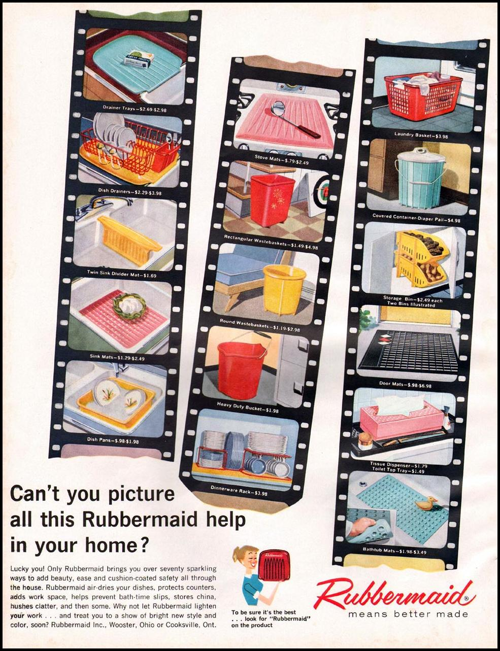 RUBBERMAID HOUSEWARE BETTER HOMES AND GARDENS 03/01/1960 p. 148