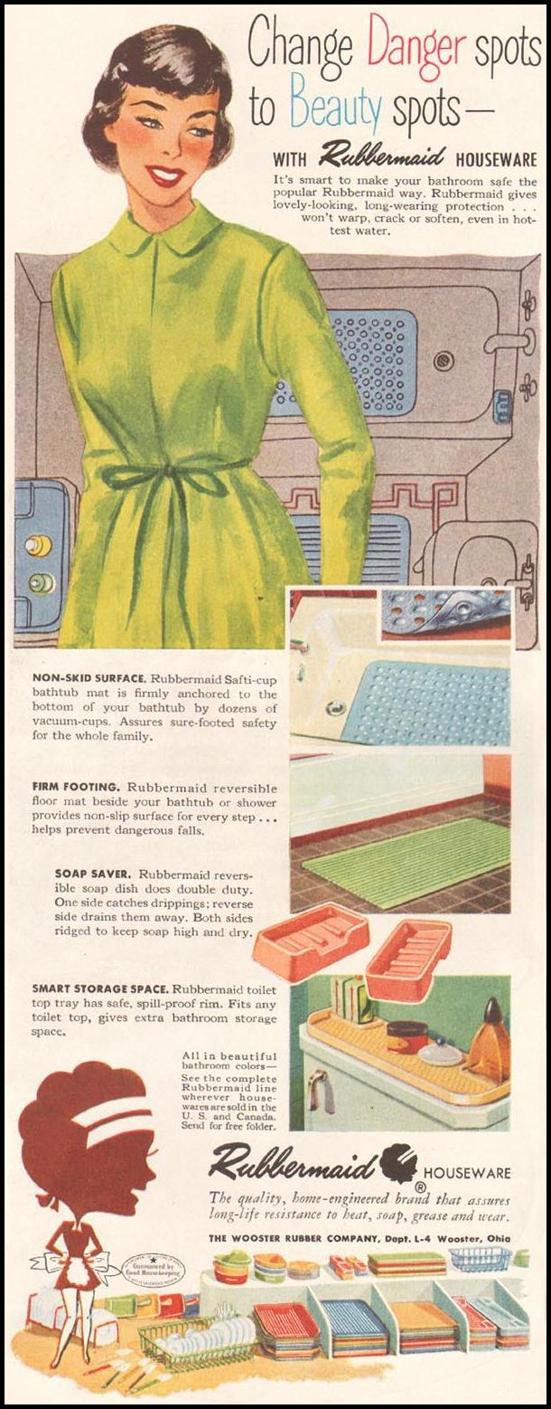 RUBBERMAID HOUSEWARE LADIES' HOME JOURNAL 11/01/1950 p. 128
