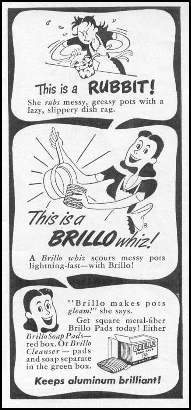 BRILLO SOAP PADS WOMAN'S DAY 11/01/1945 p. 118