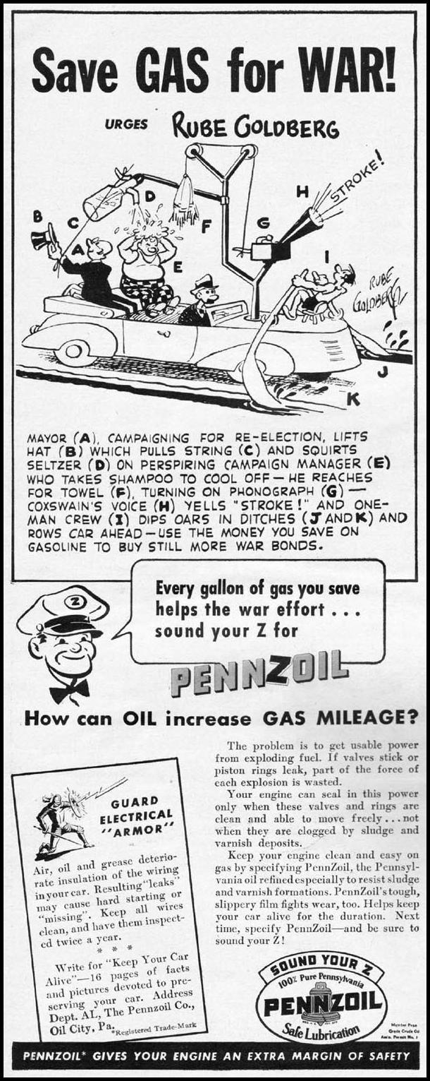 PENNZOIL MOTOR OIL LIFE 10/11/1943 p. 6