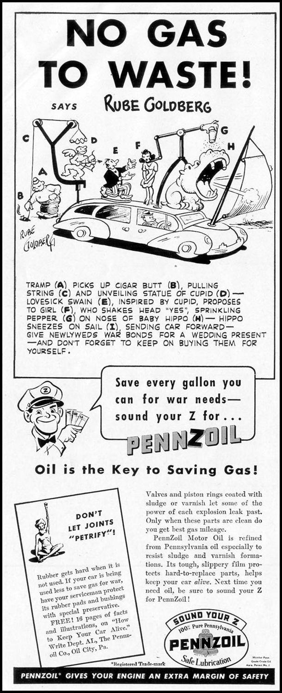 PENNZOIL MOTOR OIL LIFE 11/08/1943 p. 8