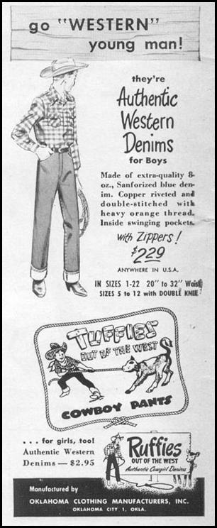 TUFFIES COWBOY PANTS LIFE 06/05/1950 p. 8