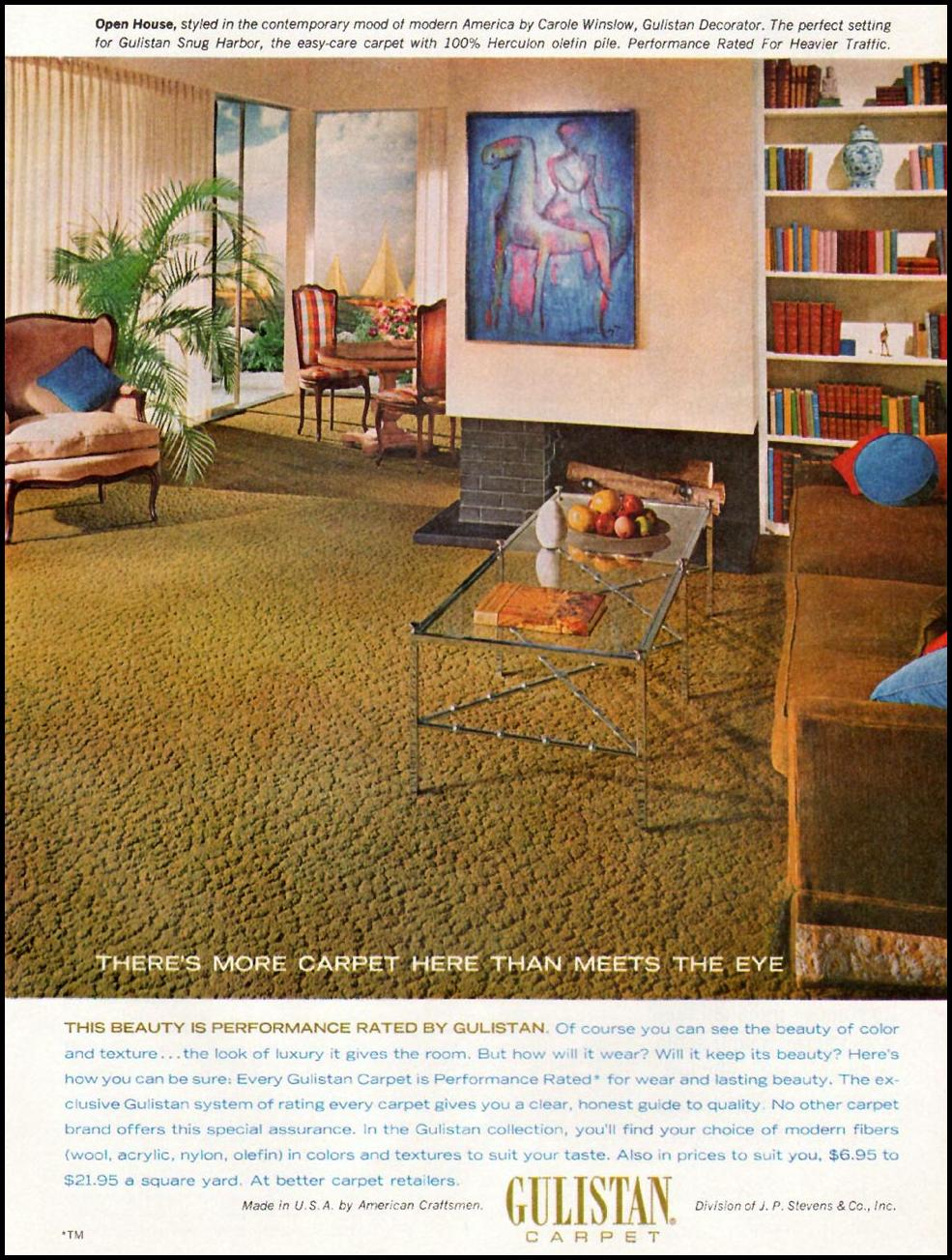 GULLISTAN CARPETS GOOD HOUSEKEEPING 10/01/1965 p. 215