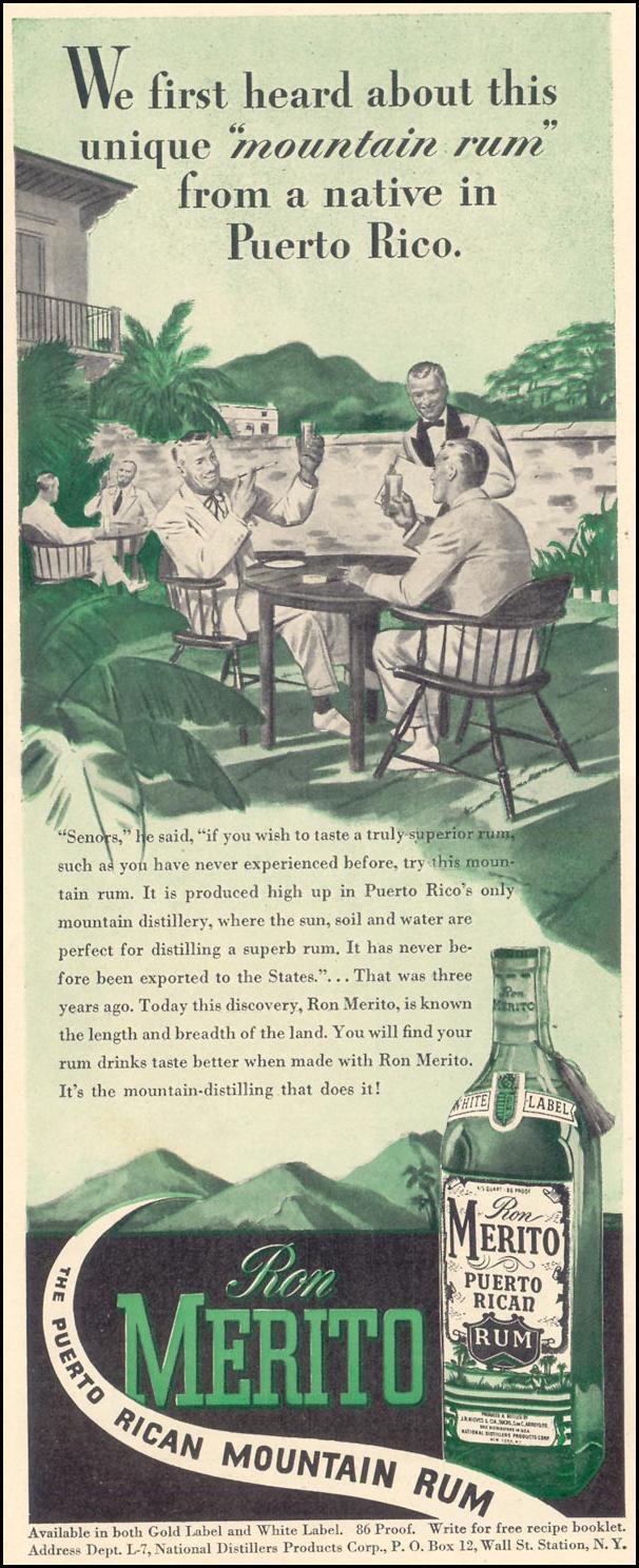 RON MERITO RUM LIFE 02/21/1944 p. 122