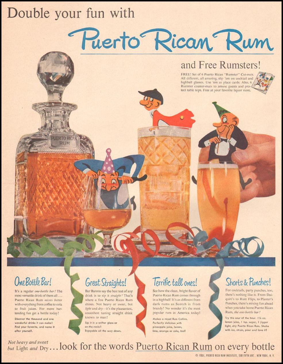 RUMS OF PUERTO RICO LIFE 04/30/1951 p. 78