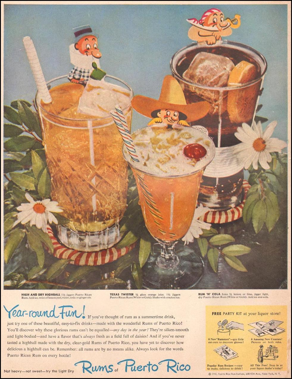 RUMS OF PUERTO RICO LIFE 10/01/1951