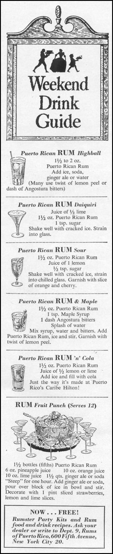 RUMS OF PUERTO RICO LIFE 10/13/1952 p. 129