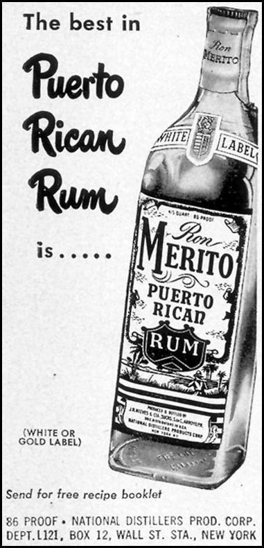 RON MERITO RUM LIFE 12/24/1951 p. 61