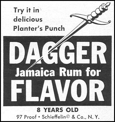 DAGGER RUM SPORTS ILLUSTRATED 04/27/1959 p. 81