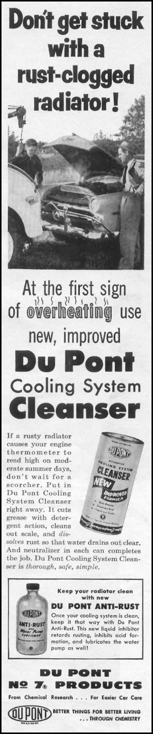 DU PONT COOLING SYSTEM CLEANSER LIFE 07/12/1954 p. 93