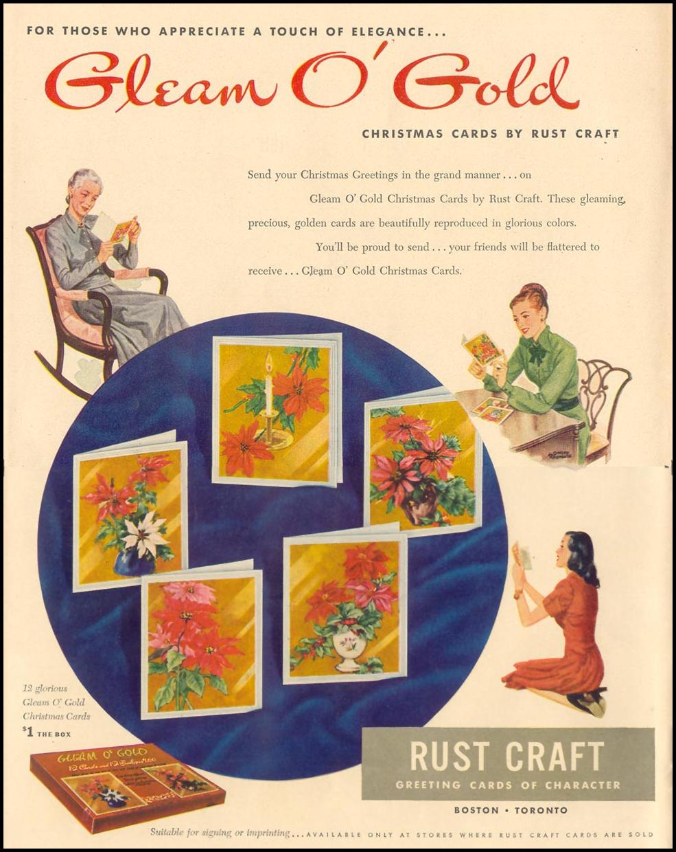 GLEAM O' GOLD CHRISTMAS CARDS LIFE 11/15/1948
