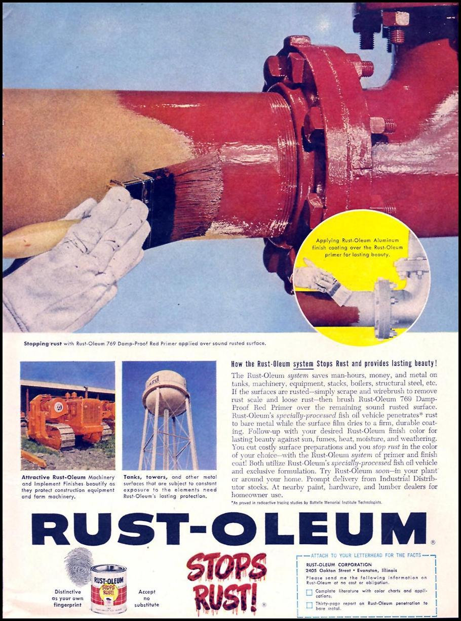 RUST-OLEUM RUST PREVENTION SYSTEM TIME 05/05/1958 p. 51