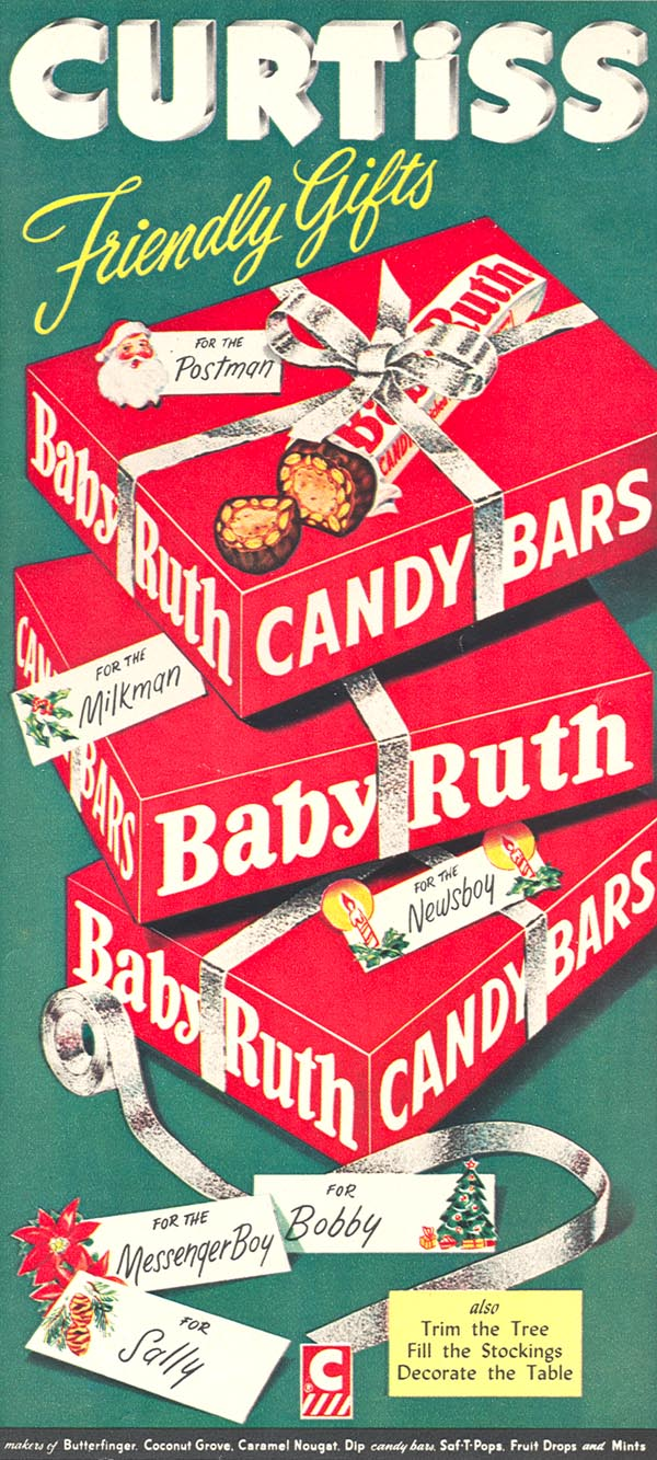 BABY RUTH CANDY BARS WOMAN'S DAY 12/01/1954 p. 73