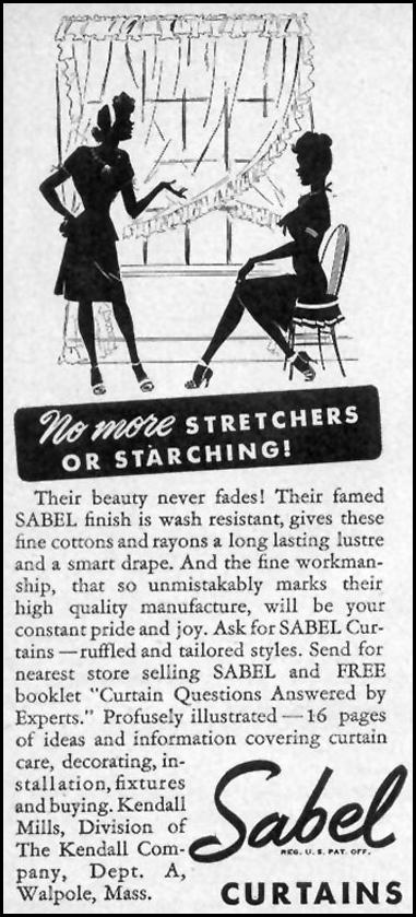 SABEL CURTAINS WOMAN'S DAY 09/01/1946 p. 86