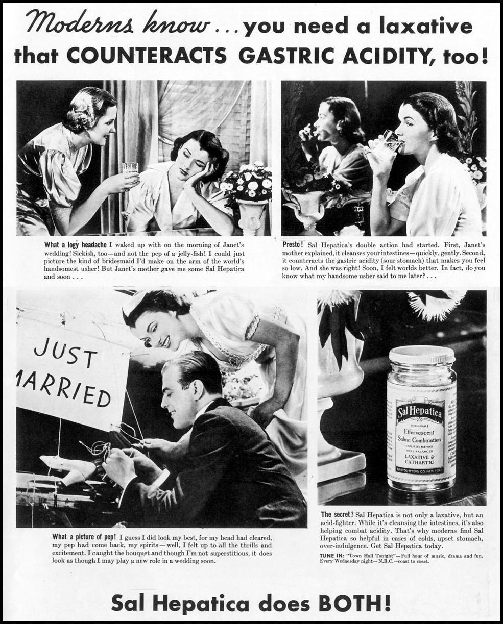SAL HEPATICA LAXATIVE LIFE 09/20/1937 p. 1