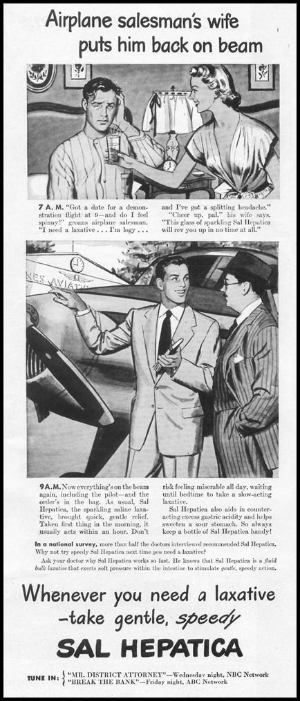 SAL HEPATICA LAXATIVE LIFE 10/11/1948 p. 20