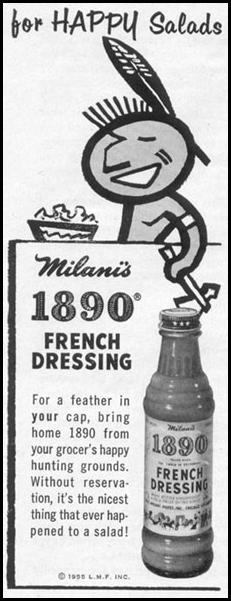 MILANI'S 1890 FRENCH SALAD DRESSING LIFE 11/14/1955 p. 128