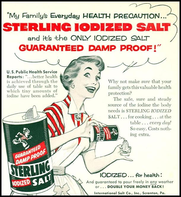 STERLING IODIZED SALT WOMAN'S DAY 02/01/1954 p. 175