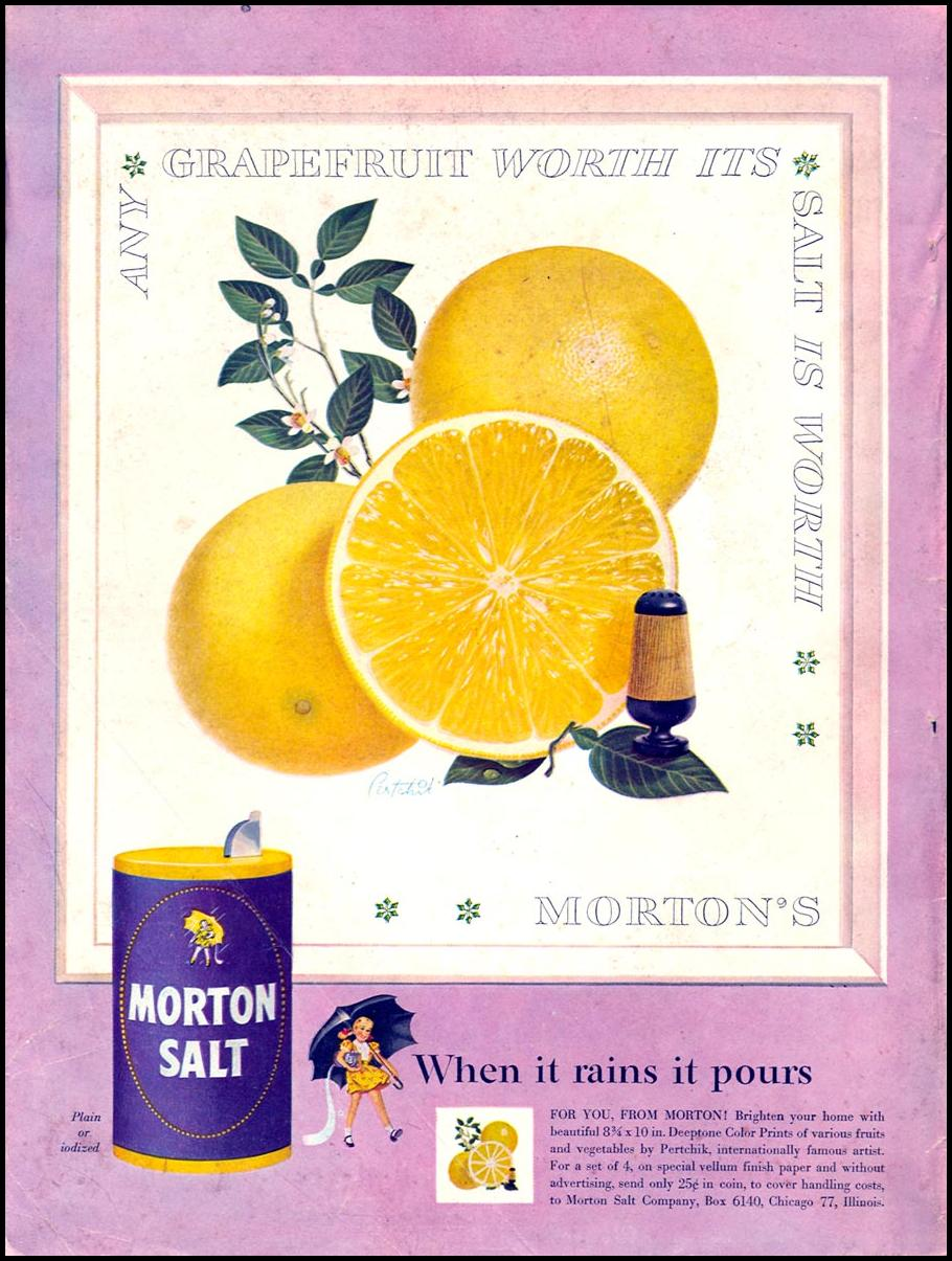 MORTON SALT WOMAN'S DAY 02/01/1954 BACK COVER