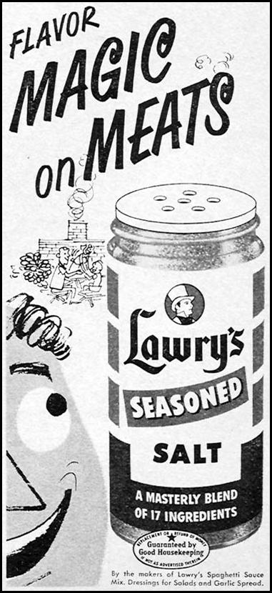 LAWRY'S SEASONED SALT WOMAN'S DAY 04/01/1956 p. 125