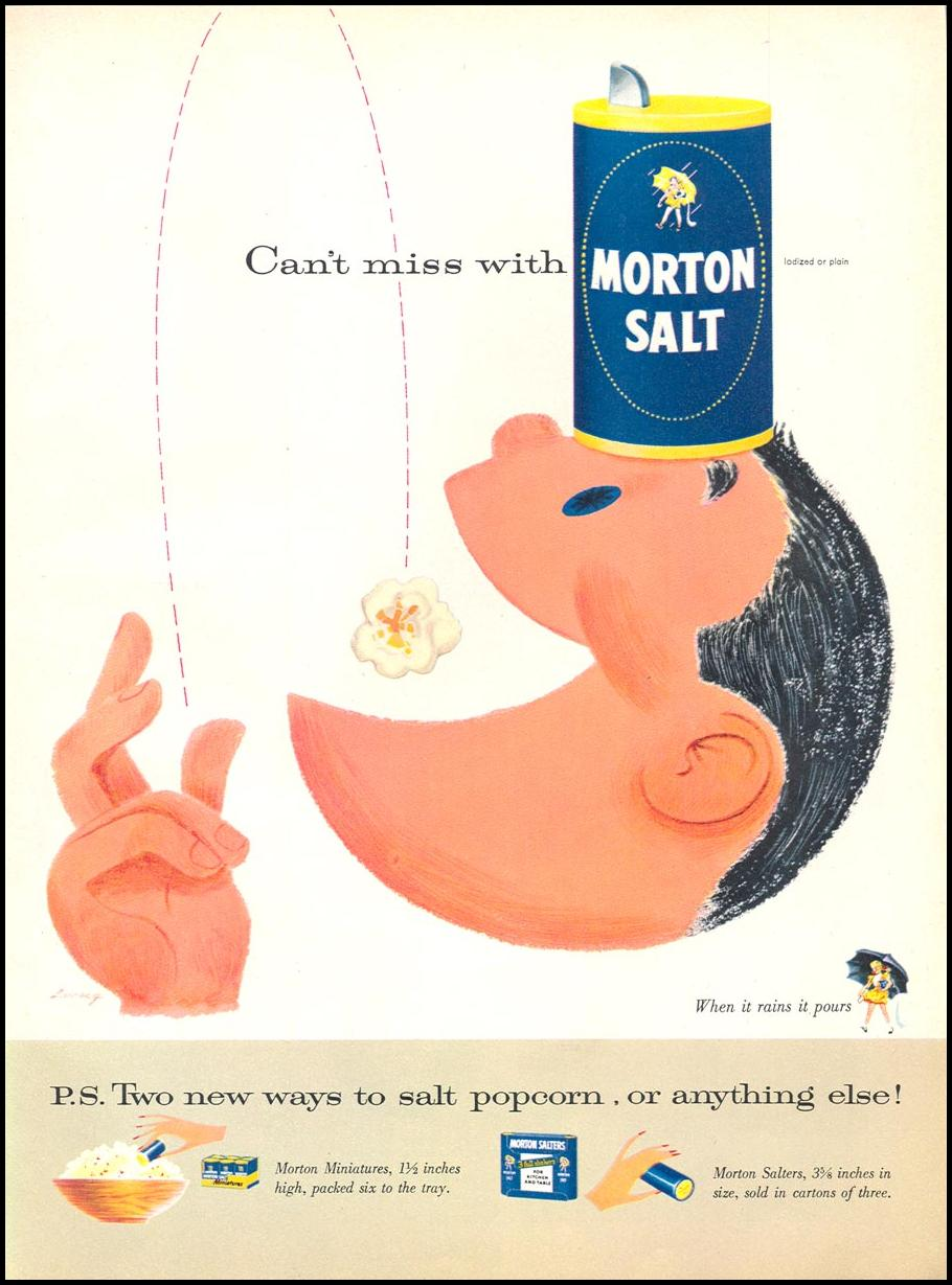 MORTON SALT WOMAN'S DAY 10/01/1956 p. 59