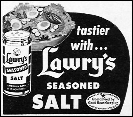 LAWRY'S SEASONED SALT WOMAN'S DAY 10/01/1956 p. 135