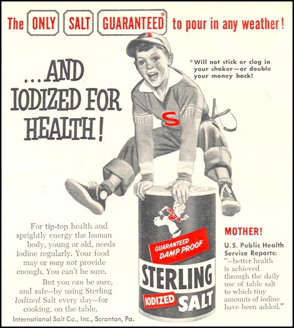 STERLING IODIZED SALT WOMAN'S DAY 12/01/1954 p. 135