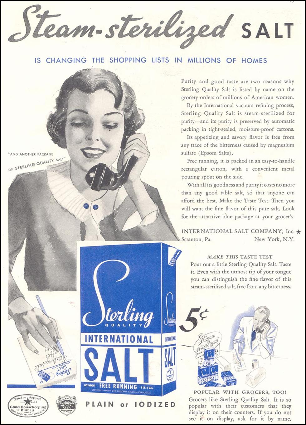 STERLING SALT GOOD HOUSEKEEPING 03/01/1935 p. 149