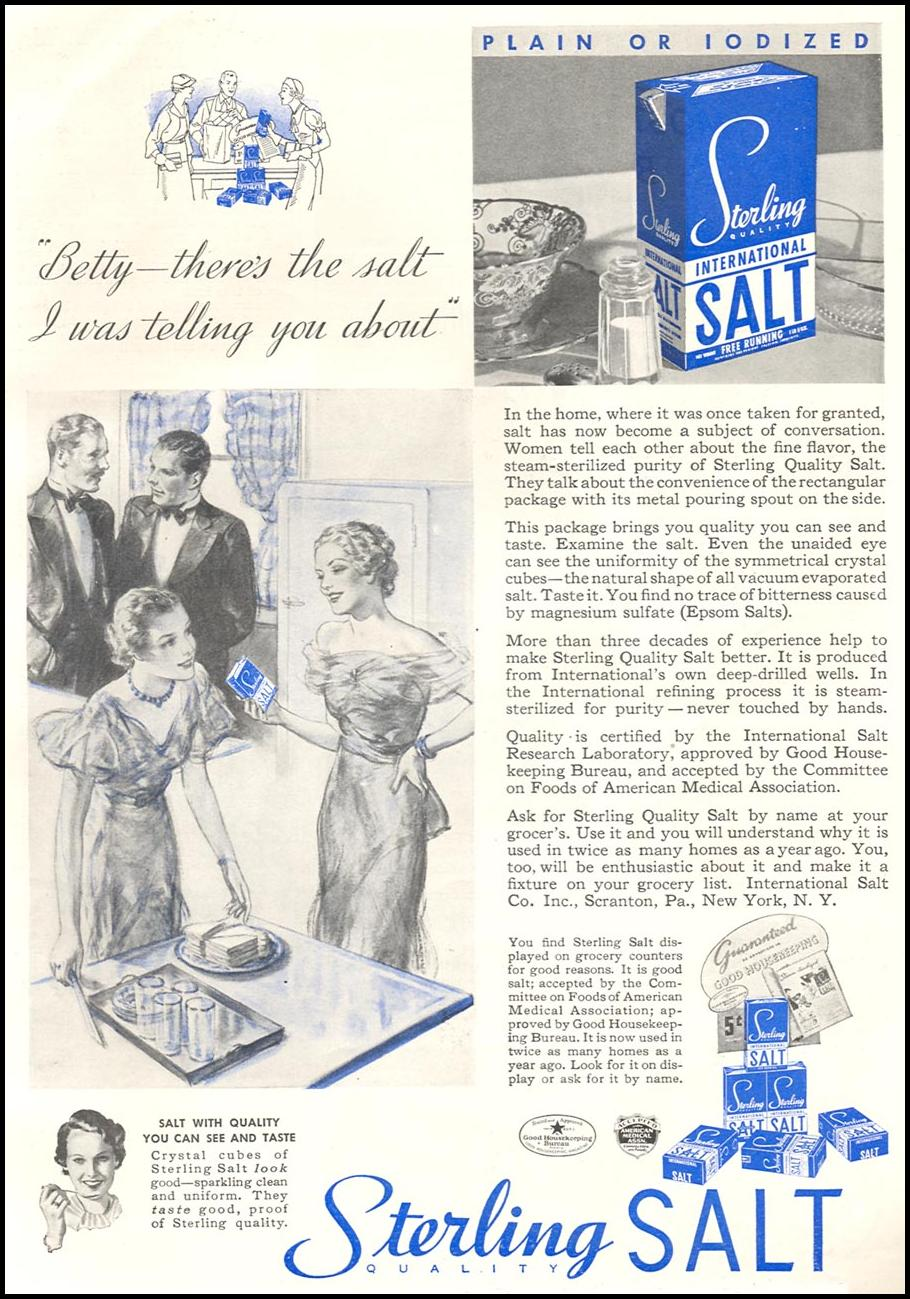 STERLING SALT GOOD HOUSEKEEPING 06/01/1935 p. 121
