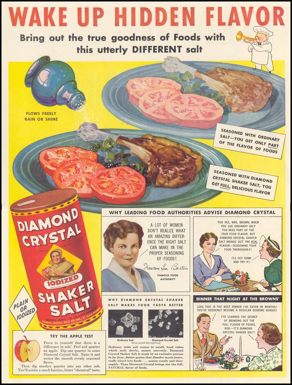 DIAMOND CRYSTAL IODIZED SHAKER SALT LIFE 07/26/1937