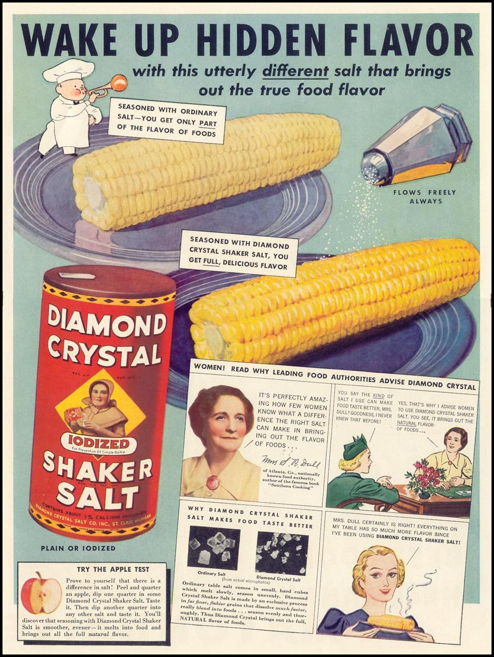 DIAMOND CRYSTAL IODIZED SHAKER SALT LIFE 08/30/1937