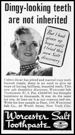 WORCESTER SALT TOOTHPASTE LIFE 09/20/1937 p. 104