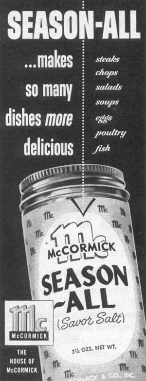 MCCORMICK SEASON-ALL SAVOR SALT LIFE 11/14/1955 p. 182