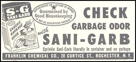 SANI-GARB GARBAGE DEODORIZER GOOD HOUSEKEEPING 07/01/1948 p. 230