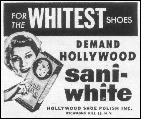 HOLLYWOOD SANI-WHITE SHOE POLISH LIFE 06/16/1952 p. 98
