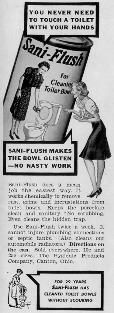 SANI-FLUSH TOILET BOWL CLEANER LIFE 06/23/1941 p. 79