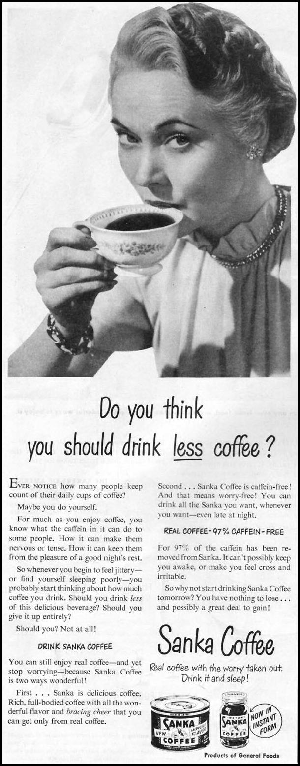 SANKA COFFEE LADIES' HOME JOURNAL 07/01/1949 p. 14