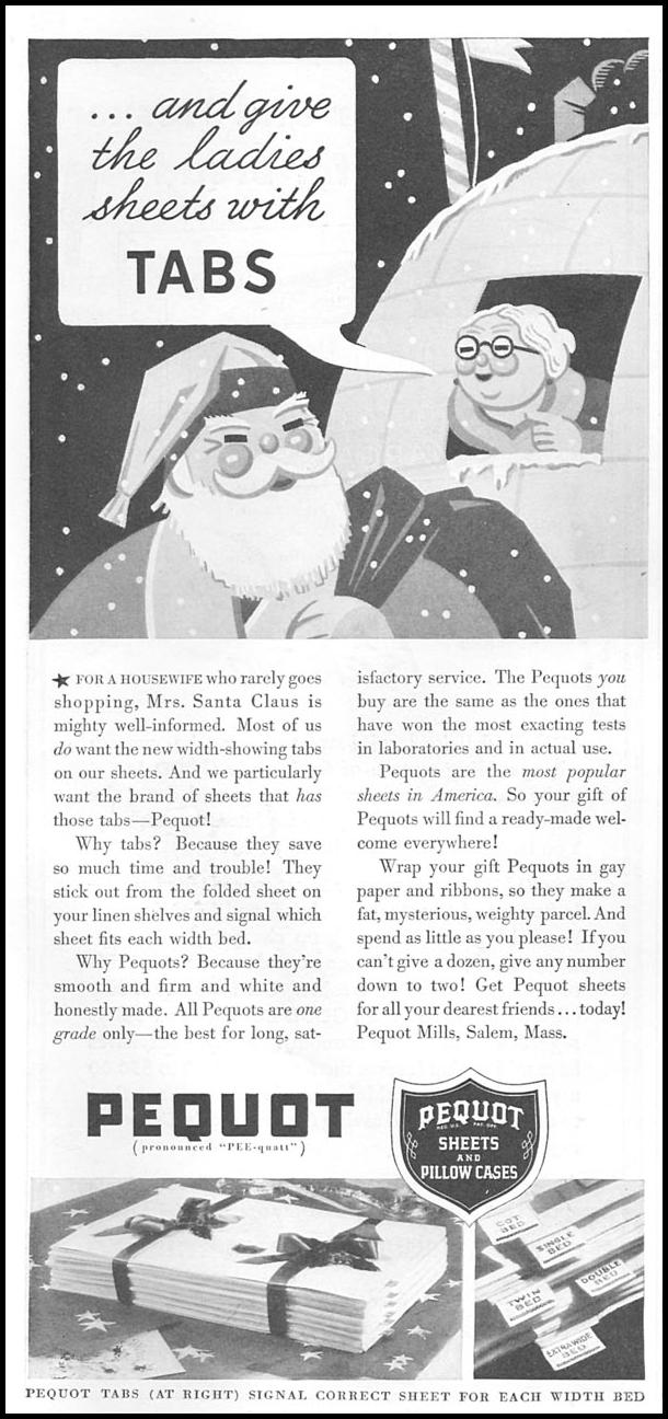 PEQUOT LINENS GOOD HOUSEKEEPING 12/01/1934 p. 178